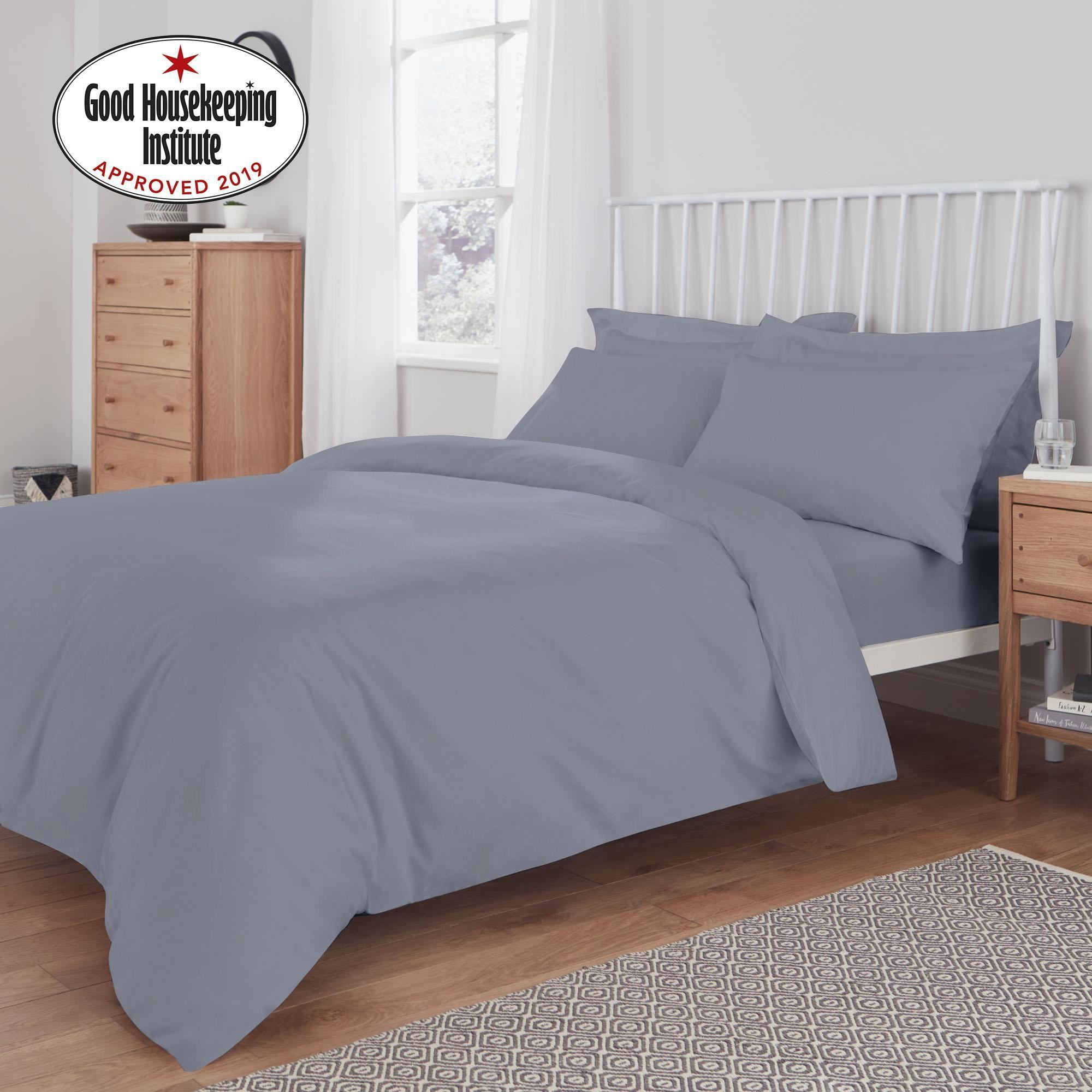 Easycare 100 Cotton Powder Blue Duvet Cover In 2020 Blue Duvet