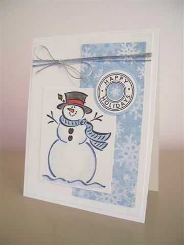 CAS39 Happy Holidays Frosty by LaLatty - Cards and Paper Crafts at Splitcoaststampers