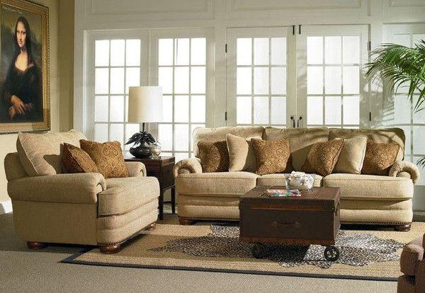 Best Stanton Oversized Sofa Loveseat Blue Pillows 400 x 300