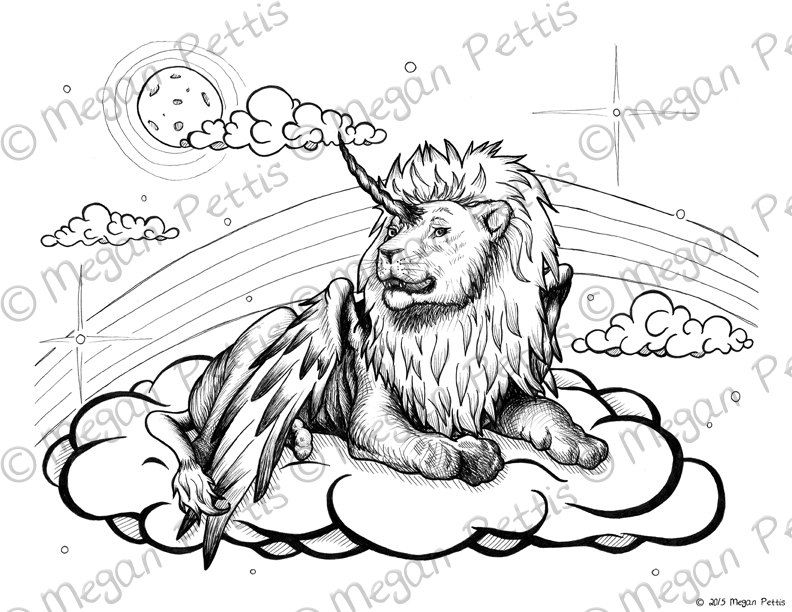 King of the Clouds Winged Lion