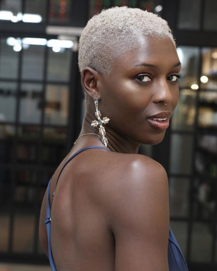 Black Women Dark Skin Natural Hair Short Hair Big Chop Short Hairstyles For Natural Hair Afro Hair Nat Natural Hair Styles Hair Styles Womens Hairstyles