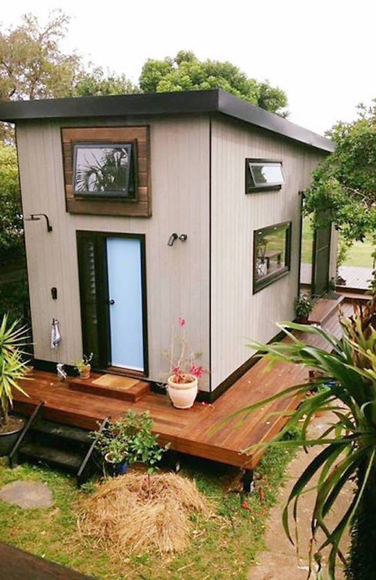 Extra Wide Modern Tiny House Comes With A Pop Out Reading