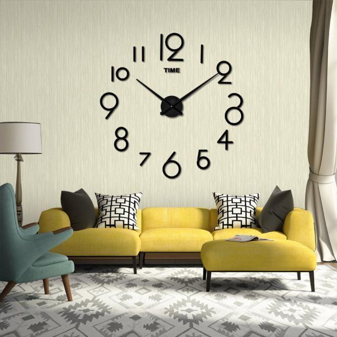 3d Living Room Mirrored Wall Clock Wall Clocks Living Room Mirror Wall Living Room Living Room Clocks