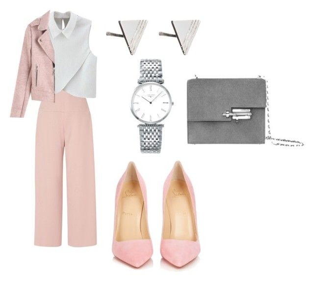 Без названия #228 by lepra on Polyvore featuring polyvore, fashion, style, WithChic, L.K.Bennett, Christian Louboutin, Longines, Rachel Jackson and clothing