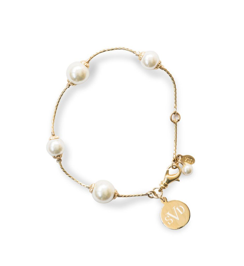 3a937920d8d665 Pearlfection Monogram Bracelet – Kiel James Patrick Pearlfection Monogram  Bracelet Monogram Bracelet, Initials, Gold