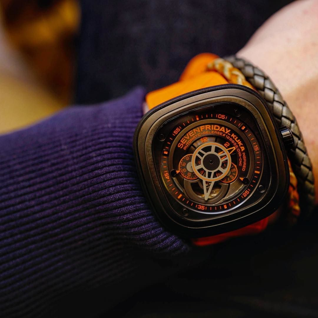 The cool new @sevenfriday KUKA available from Wednesday 1st June.  #sevenfriday #alwaysfriday #kuka by simoncudd