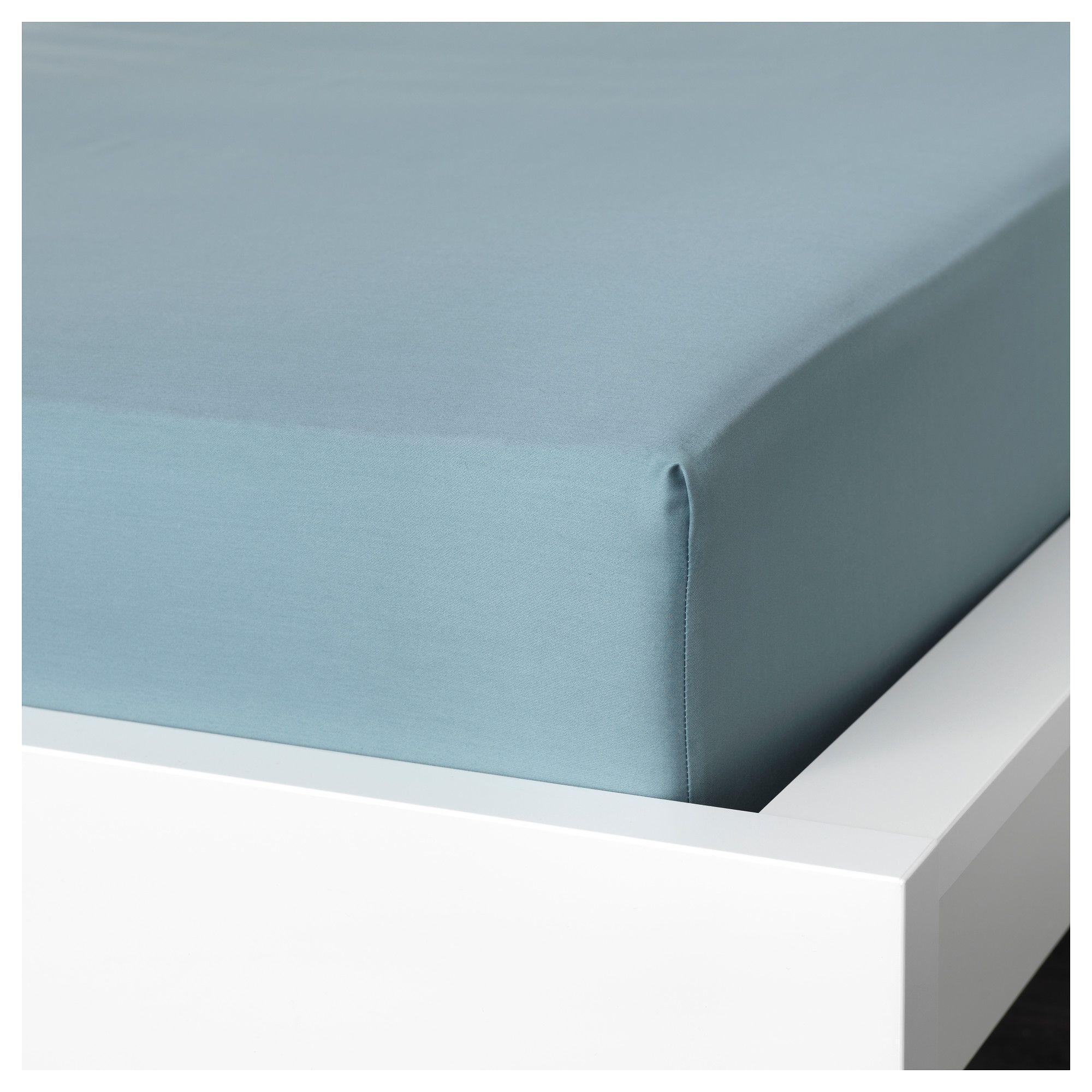 IKEA - NATTJASMIN Fitted sheet blue #DoubleBedSheets | Double Bed ...