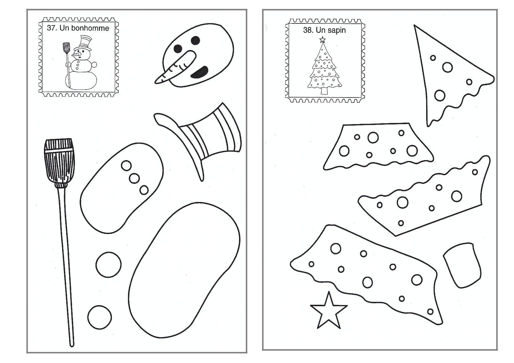 Découpage/collage de Noël | Animation noel, Noel maternelle, Noel
