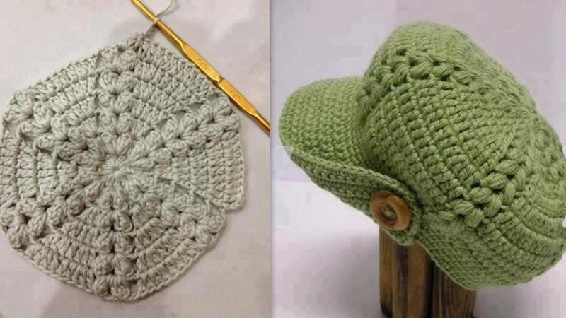c348088407a29 gorro con visera crochet - Buscar con Google