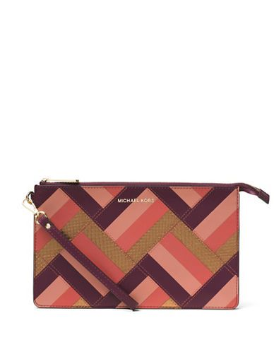 46a7ceb33650 Michael Michael Kors Daniela Large Marquetry Patchwork Calf Leather ...