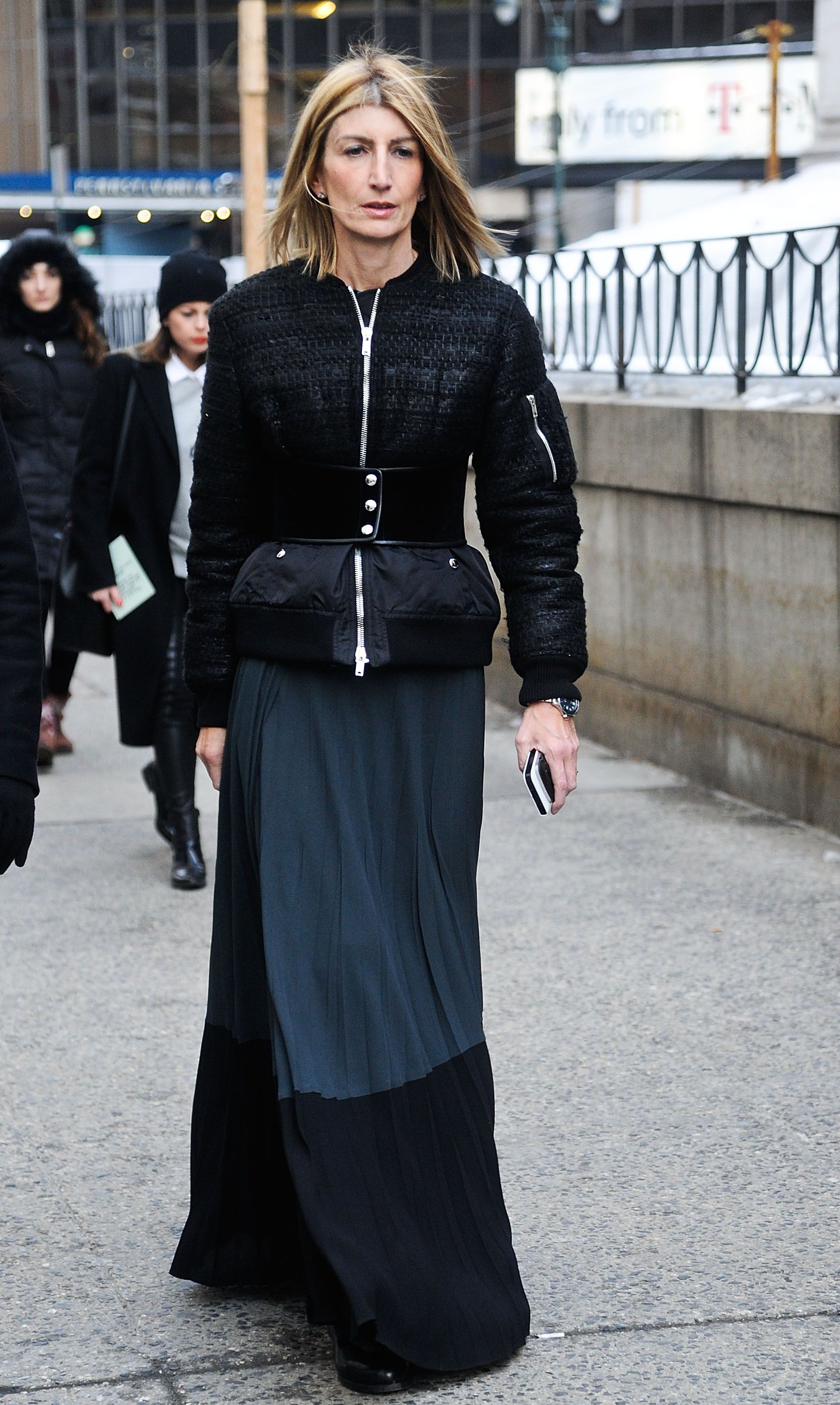 NYFW Street Style Day 2: Sarah Rutson brought the drama to Fashion Week with a floor-sweeping skirt.