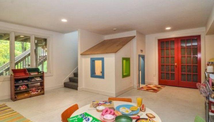 Children S Playroom In A Loft Kids Basement Playroom Design