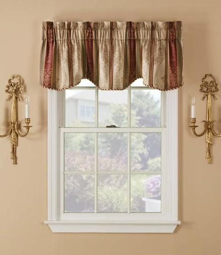 $12 window accents tuscan stripe valance 54 | dining room
