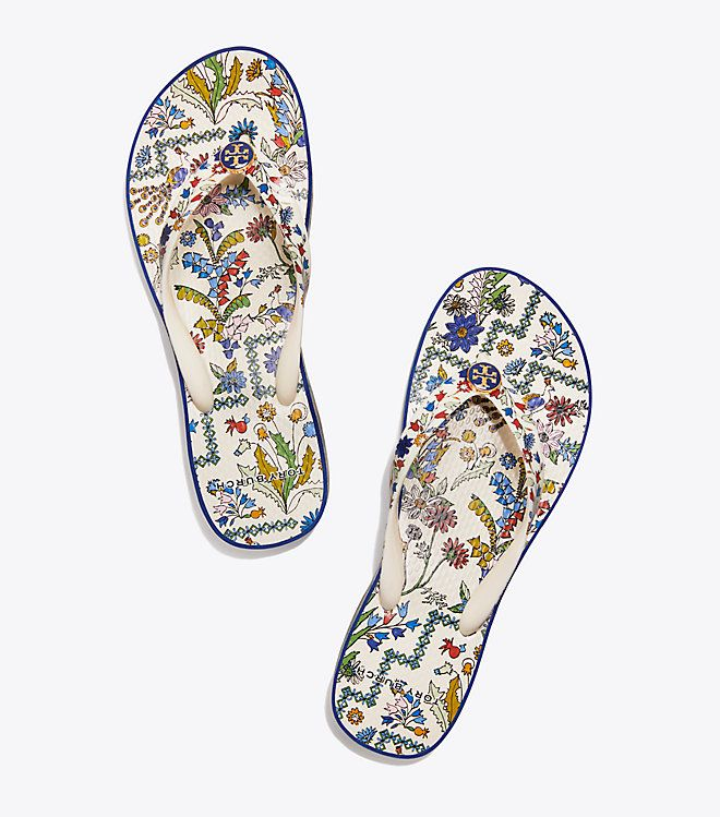 e402bb31f Visit Tory Burch to shop for Printed Carved-wedge Flip-flop and more Womens  New Arrivals. Find designer shoes