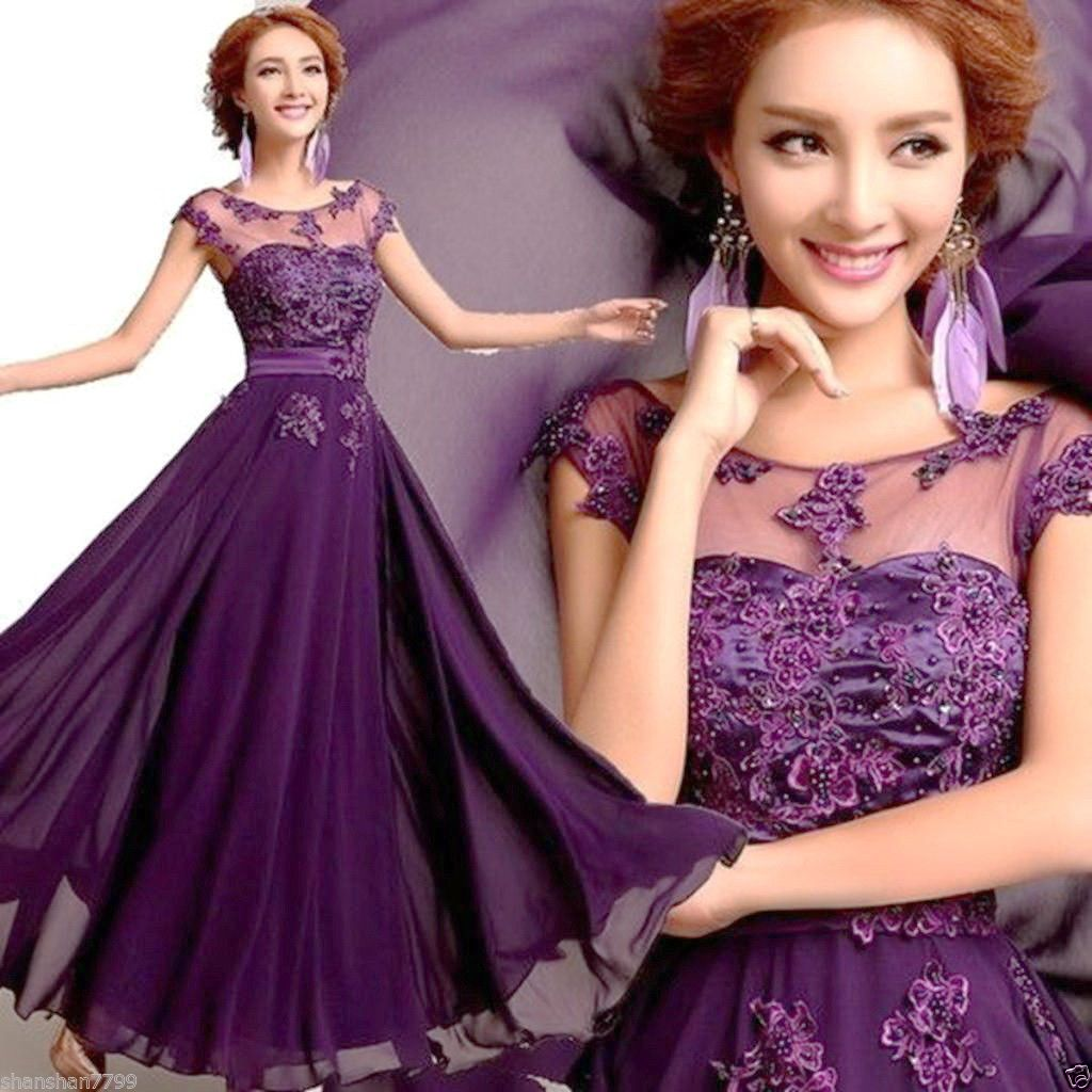 Nice great beautiful new long chiffon bridesmaid evening formal