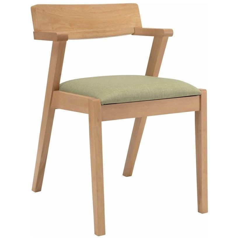 209 Zola Dining Chair Oak Spring Green Modern Furniture