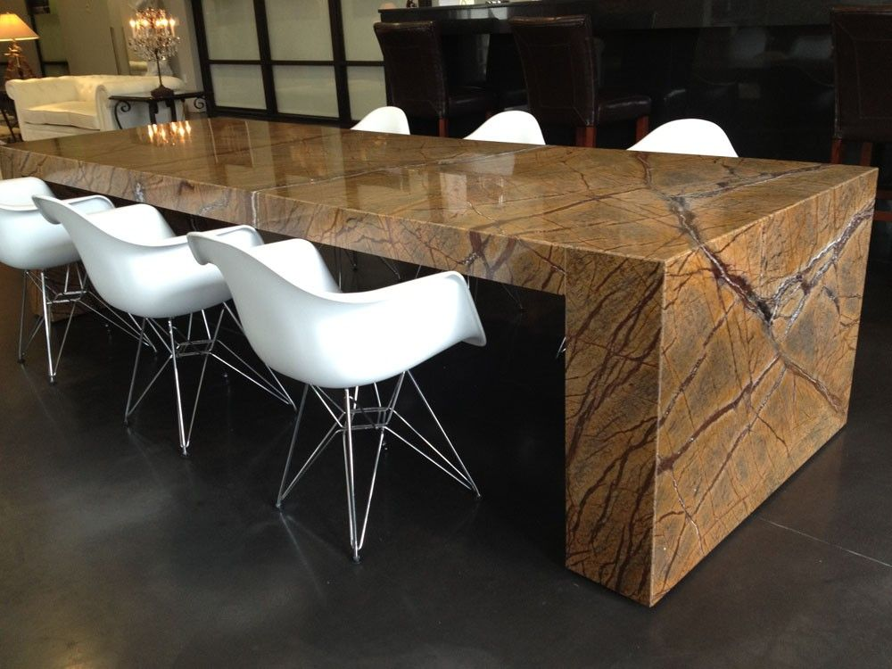 Beautiful And Durable Granite Dining Table For The Kitchen Spaceon