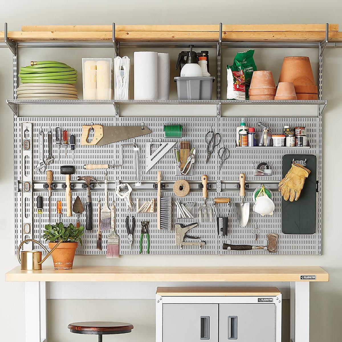Elfa Utility Garage Planting Board & Shelves