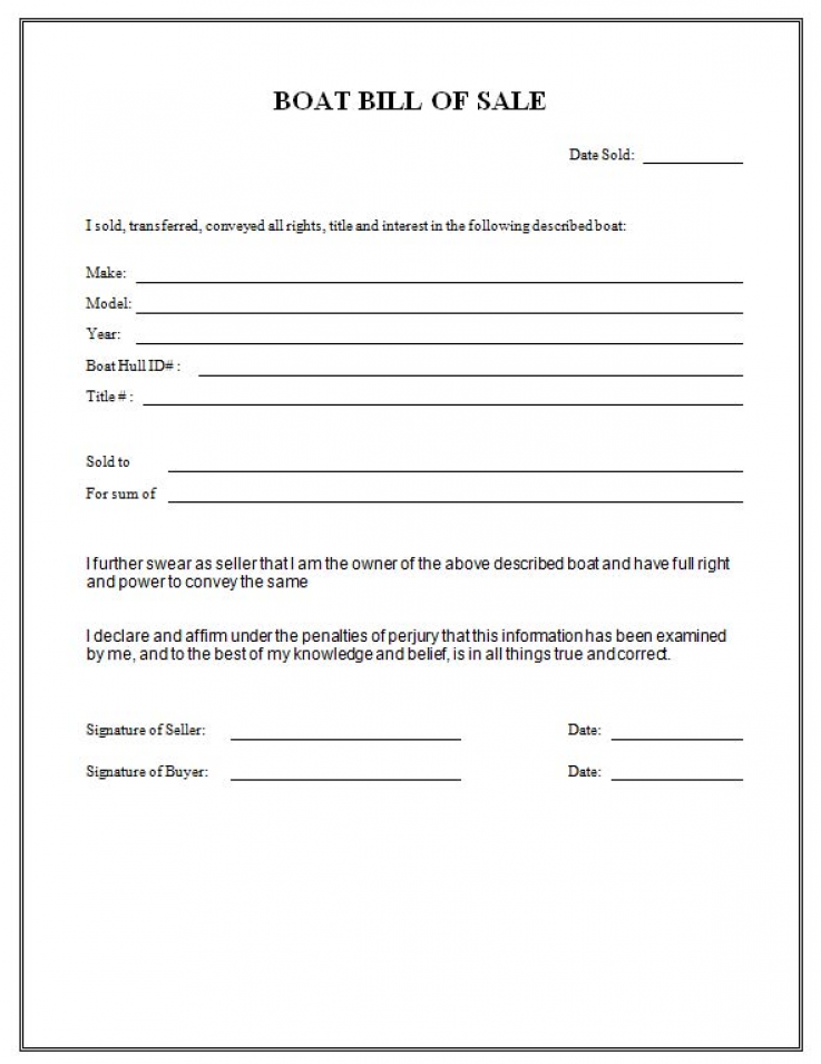 Bill Of Sale To Transfer A Motor Boat Welcome Barry E Bill Of Sale To Word Template Bill Of Sale Template Bills