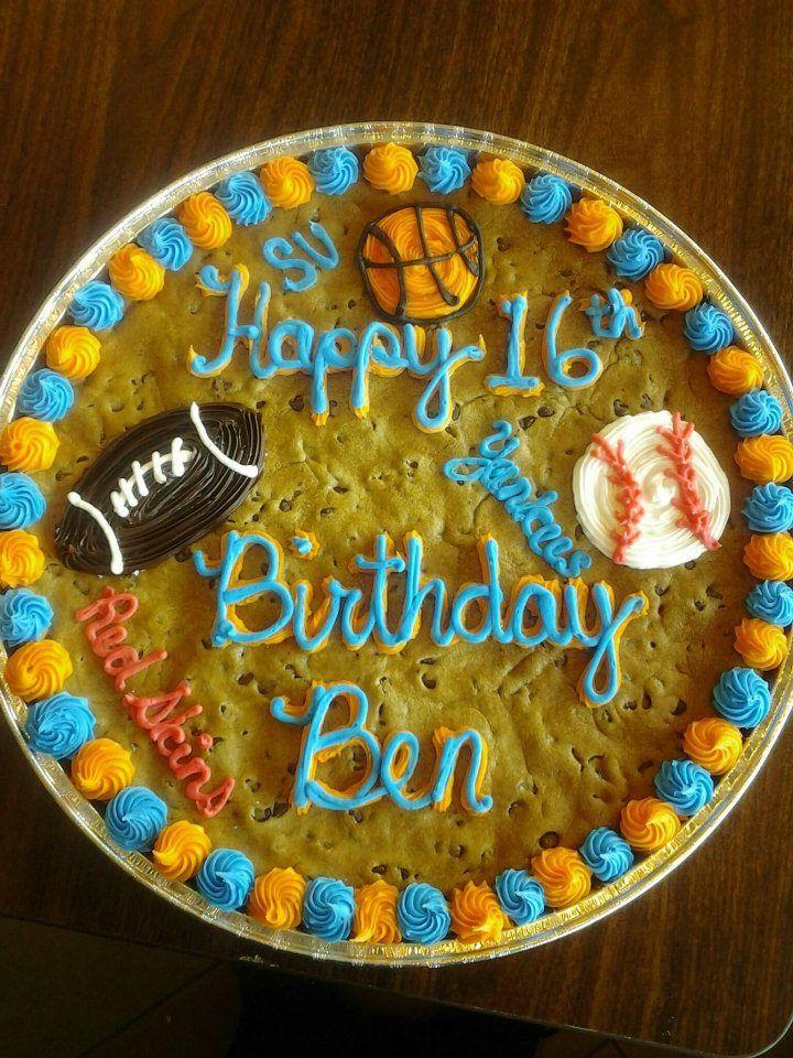 Fabulous Sport Theme Birthday Cookie Cake Nestle Nestletollhousecafe Funny Birthday Cards Online Alyptdamsfinfo