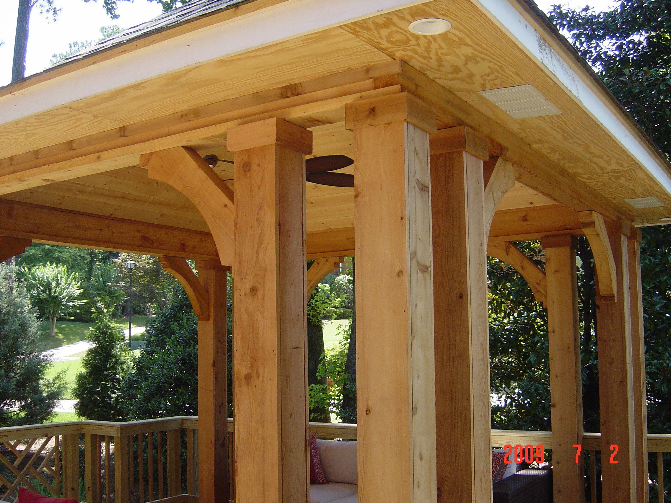 Free Standing Cedar Open Porch Deck Building Plans