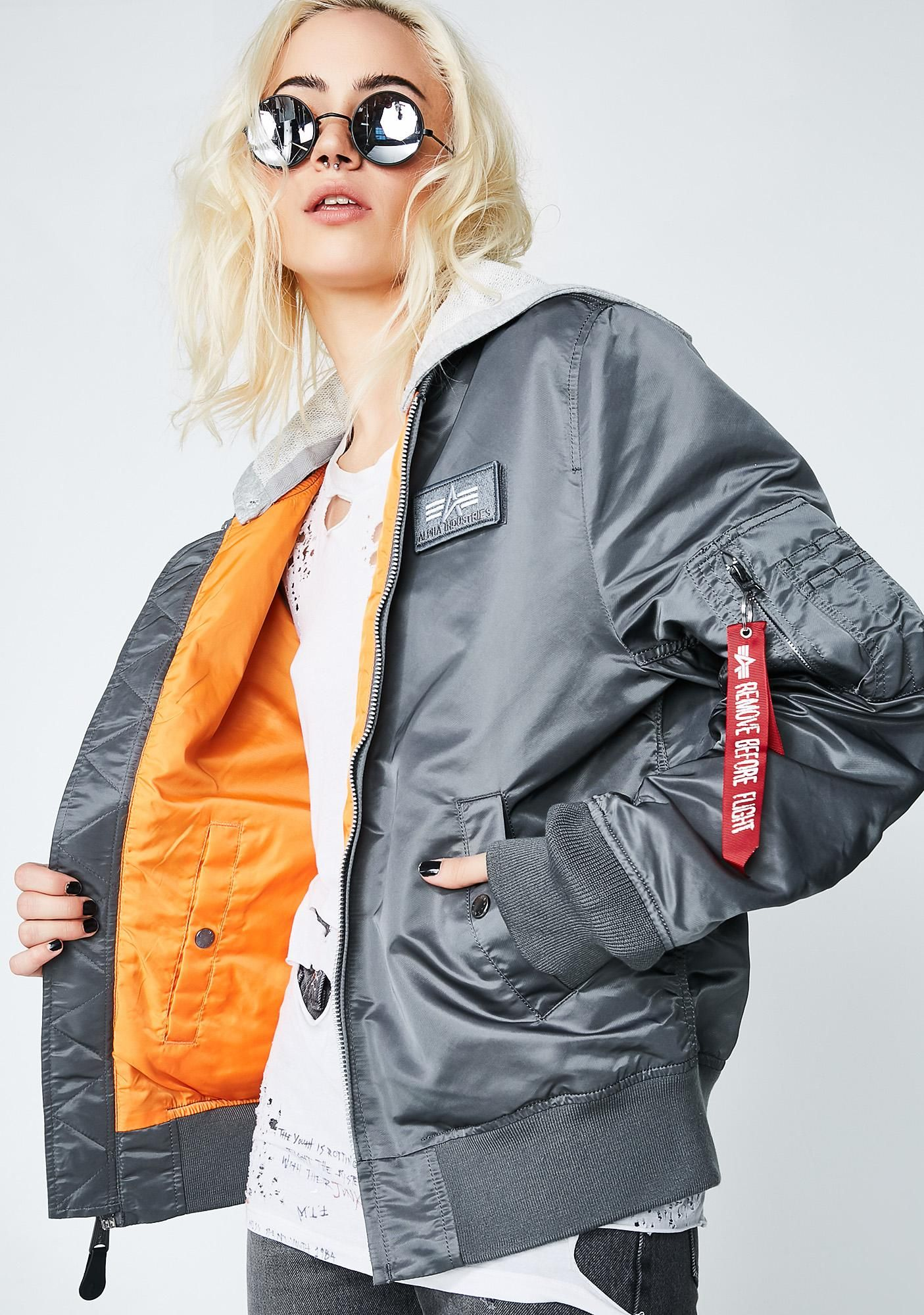 ff6b6242f L-2B Hooded Bomber Jacket in 2019 | things: miscellany | Hooded ...