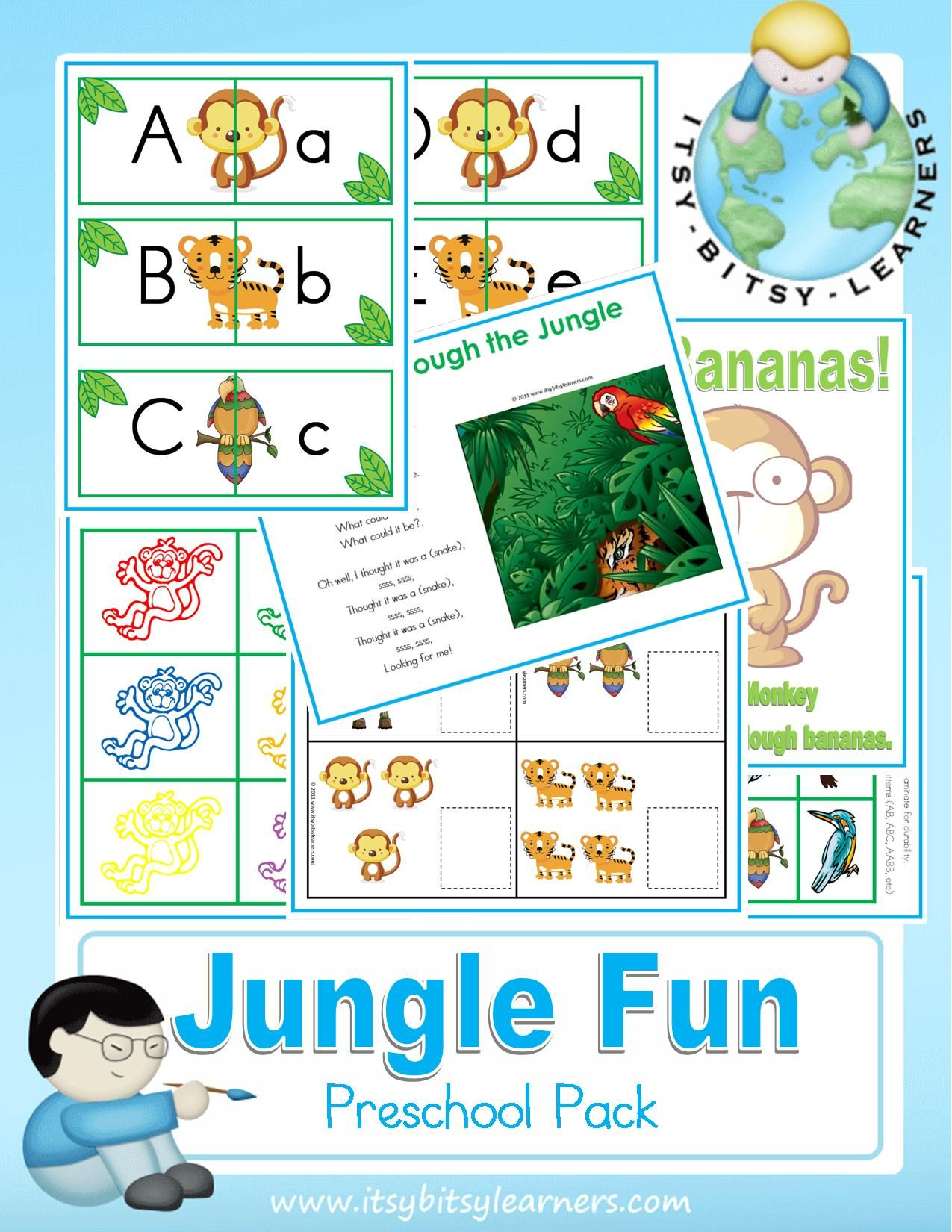 Free preschool/kindergarten printable packs including cut/paste ...