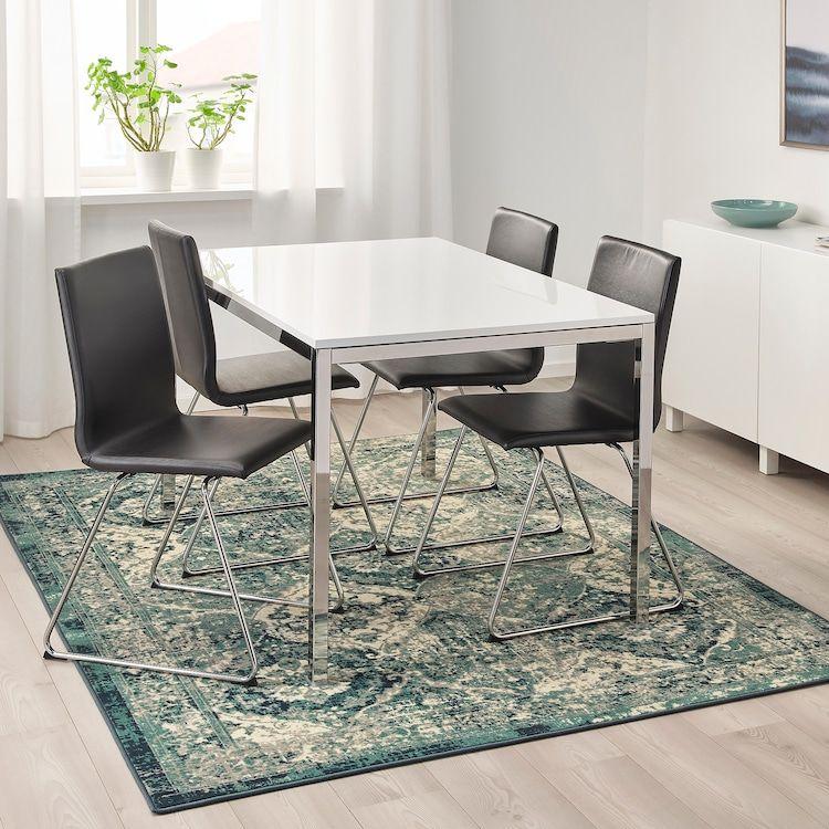 "VONSBÄK Rug, low pile, green, Length 7 ' 7"" IKEA in"