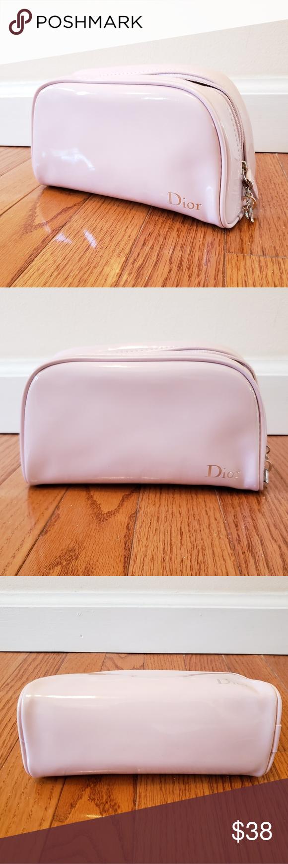 Christian Dior pink makeup bag Pink makeup bag, Makeup