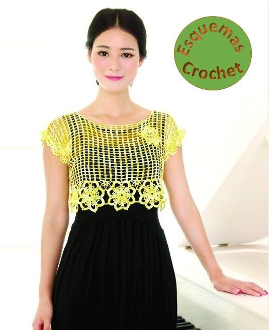Blusas tejidas a crochet hermosas, lindos diseños para tejer, lucir ...