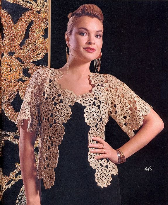 b89e99a40eed Crochetemoda  Casaqueto de Crochet Bege Krásne Háčkovanie