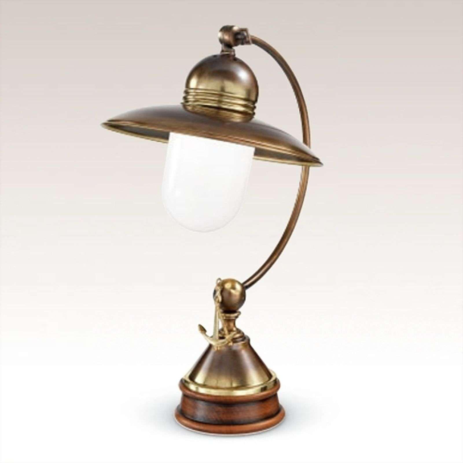 Geschmackvolle Tischleuchte Faro In 2020 Tafellamp Donker Hout Messing