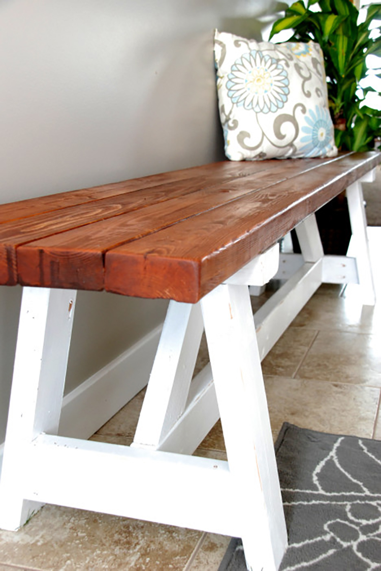 DIY Project Farmhouse Bench The Home Depot Furniture