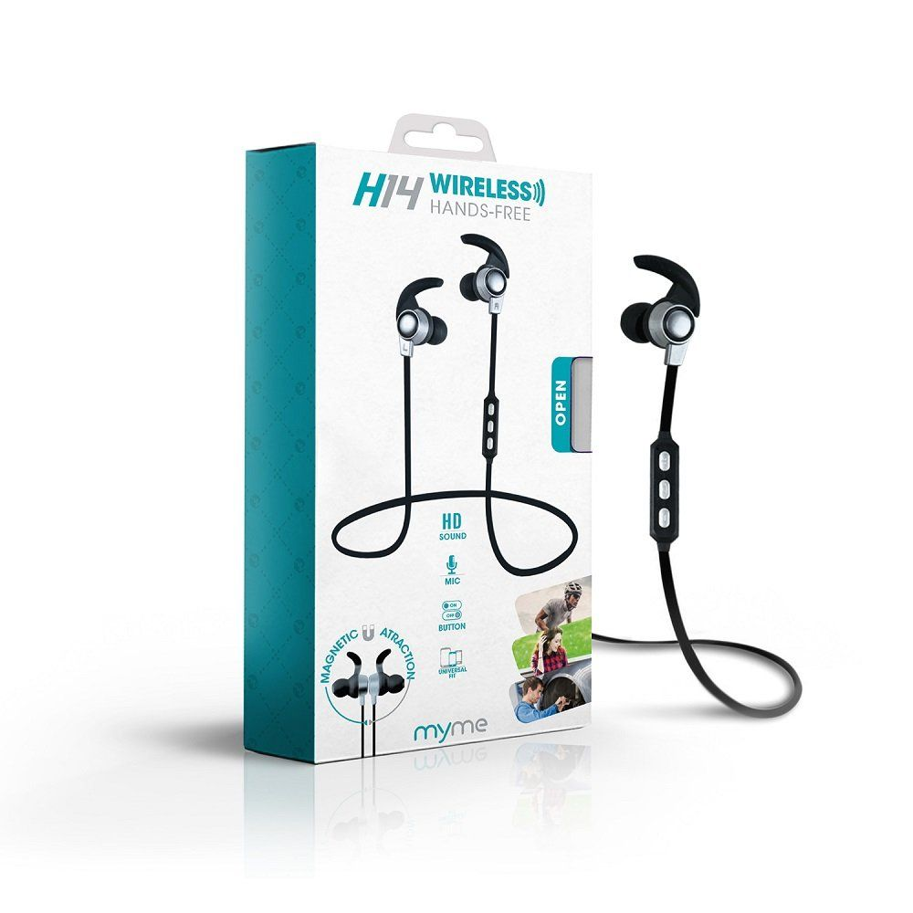 MyMe fit H14 Bluetooth Wireless Magnetic Earphones w/Microphone, HD Sound,  4 Hour