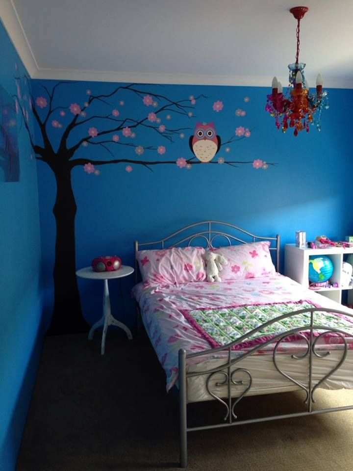 Mural for a 7 years old girl! Girl bedroom decor, Cute