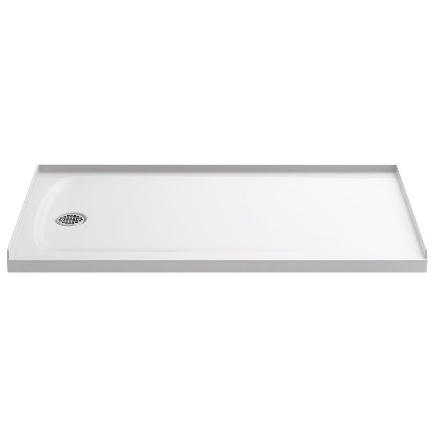 KOHLER Ballast White Acrylic Shower Base (Common: 32-in W x 60-in L; Actual: 32-in W x 60-in L)
