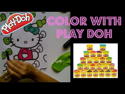 Play Doh Coloring Book: Hello kitty Bow - YouTube