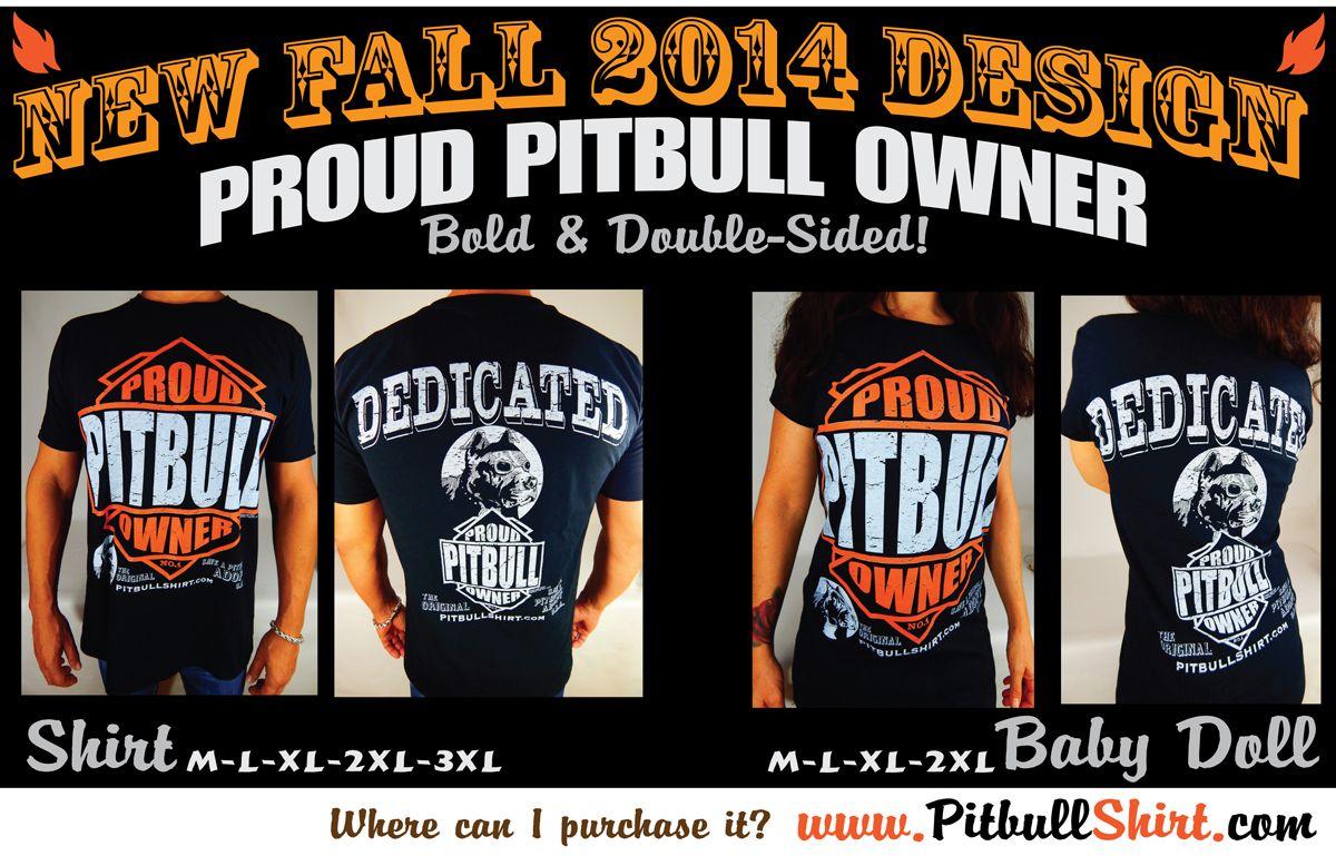 Our NEWEST DESIGN!!!! For men and women! www.pitbullshirt.com
