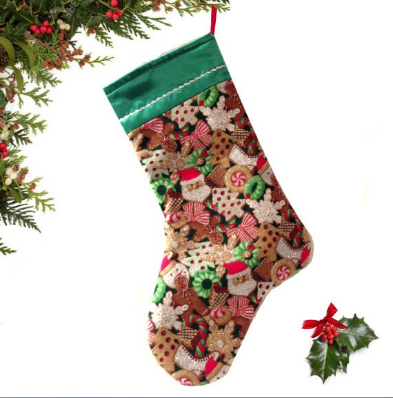 Christmas Cookie Stocking Holday stocking by atonydesignbytony