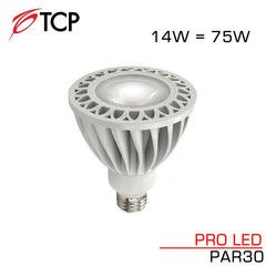 Tcp Pro Led Par30 14 Watt 820 Lumen 3000k Warm White 40 Degree Led Light Bulb 75 Watt Replacement Led Light Bulb Led Bulb