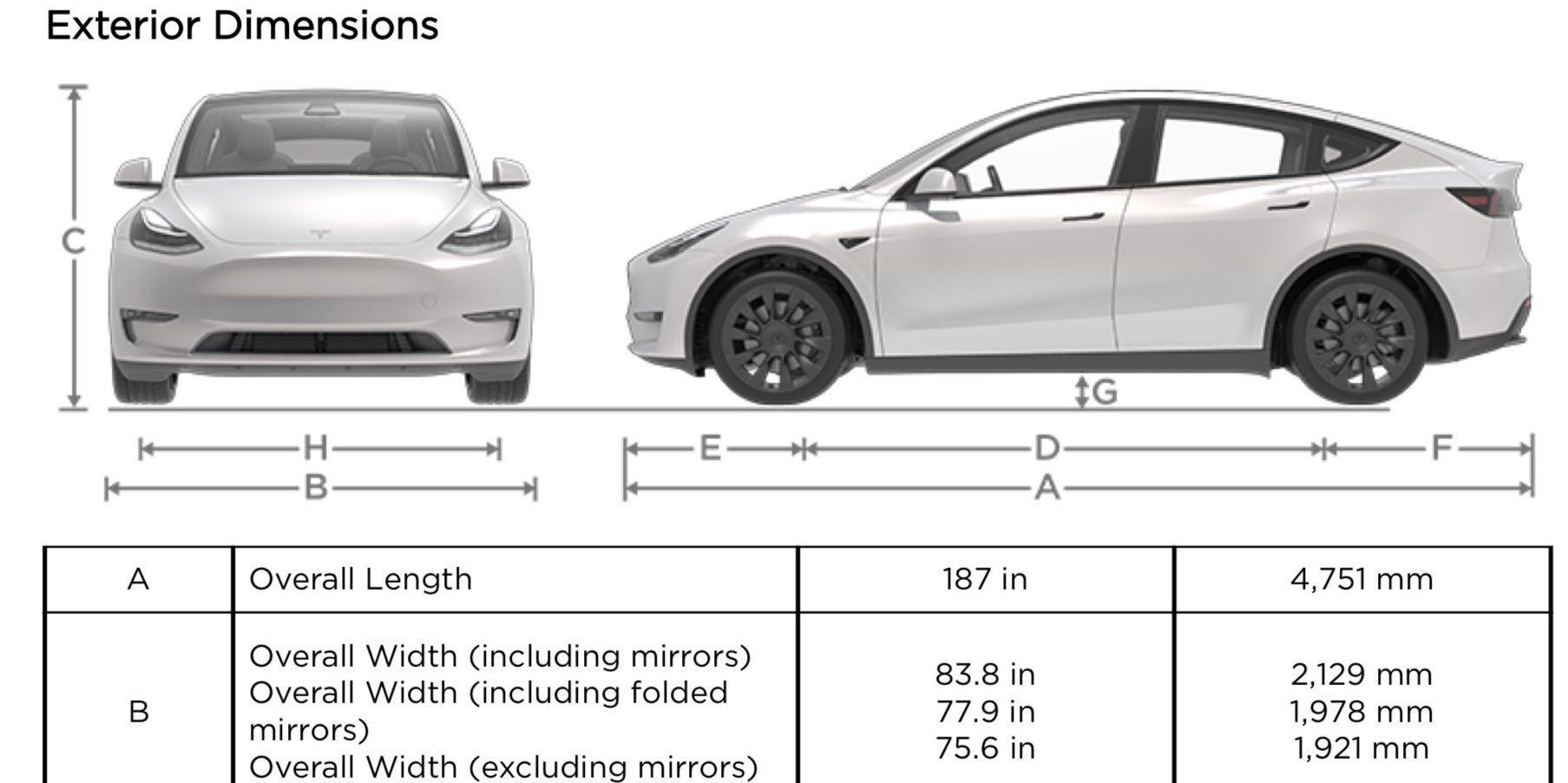 Tesla Model Y Specs We Finally Know How Big It Is Https T Co Idcetqaqkr Bjmt Tesla Model Tesla New Tesla