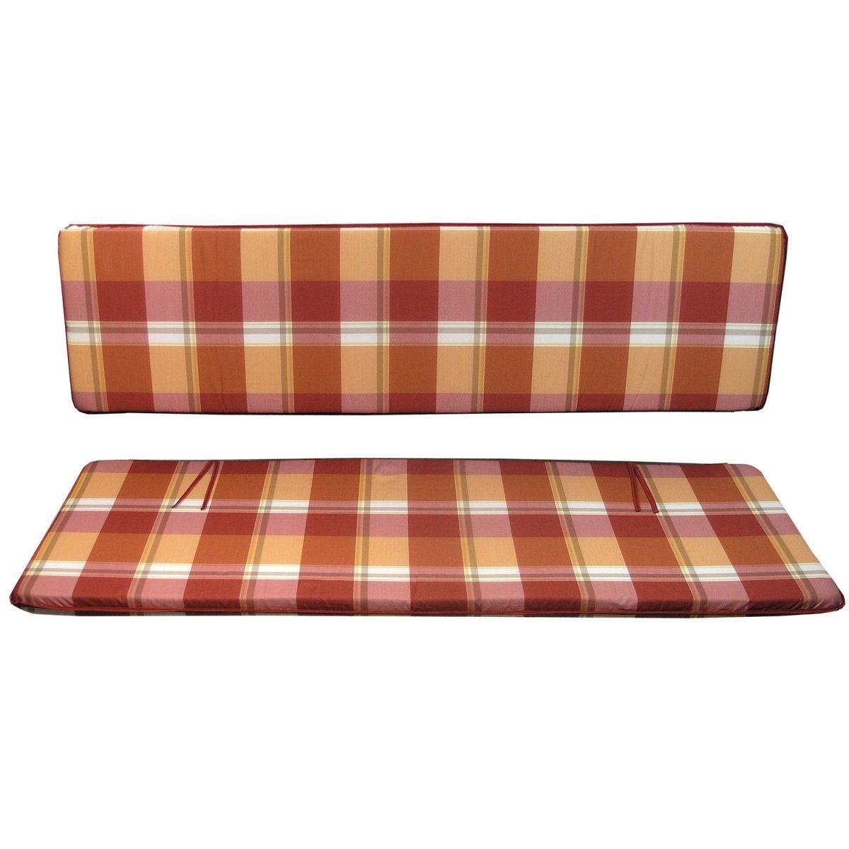 Bankauflage 150 cm 2-teilig Rot-Orange kariert Jetzt bestellen unter ...