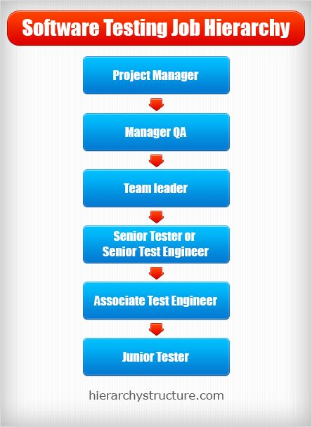 Software Testing Job Hierarchy From Heirarchystructure Com Software Testing Hierarchy Career Pathways