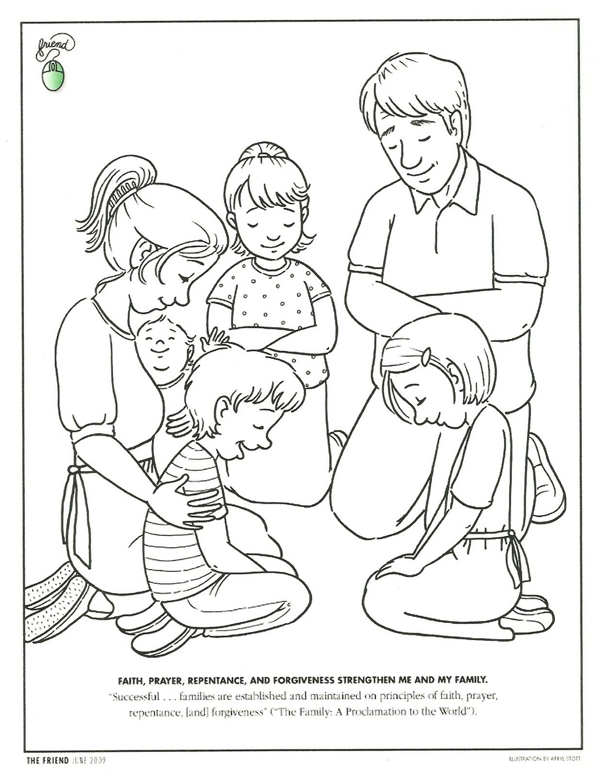 Cute Lds Prayer Coloring Page 2 praying coloring pages preschool