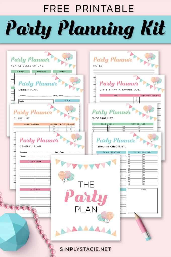 Photo of 9 Kostenlose Ausdrucke für die Partyplanung, um Sie in Ordnung zu halten