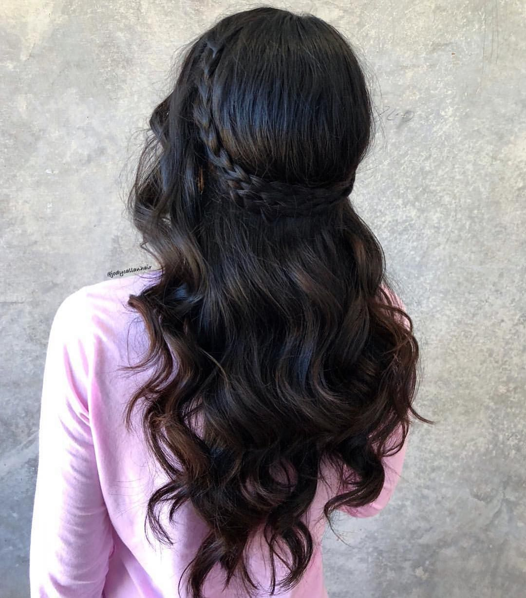 Instabraid On Instagram Many Of You Have Been Asking For Braids On Dark Hair So Here S A Beautiful Elegant Wedding Hair Headband Hairstyles Long Hair Styles