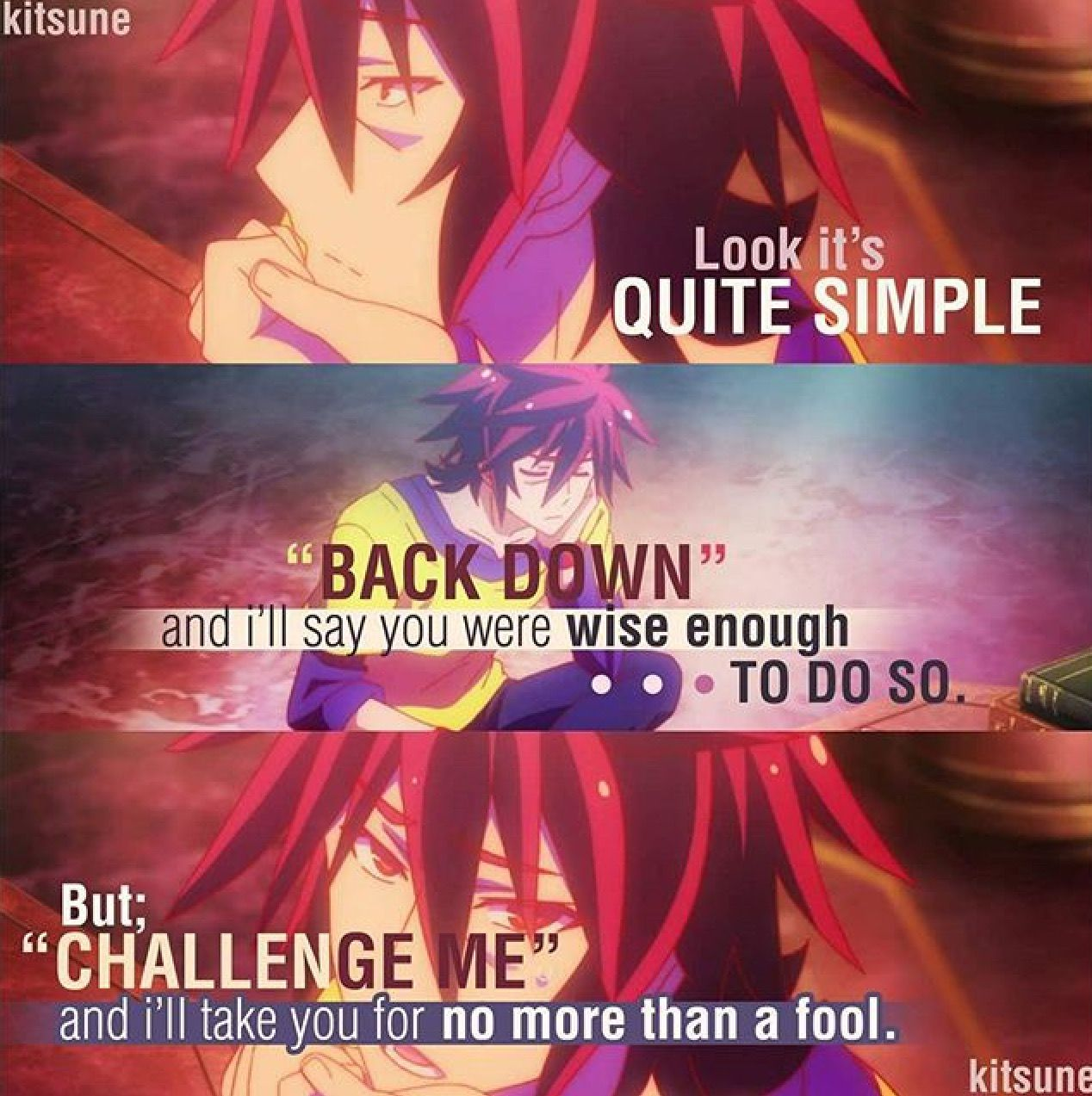 no game no life  Anime quotes inspirational, Anime love quotes