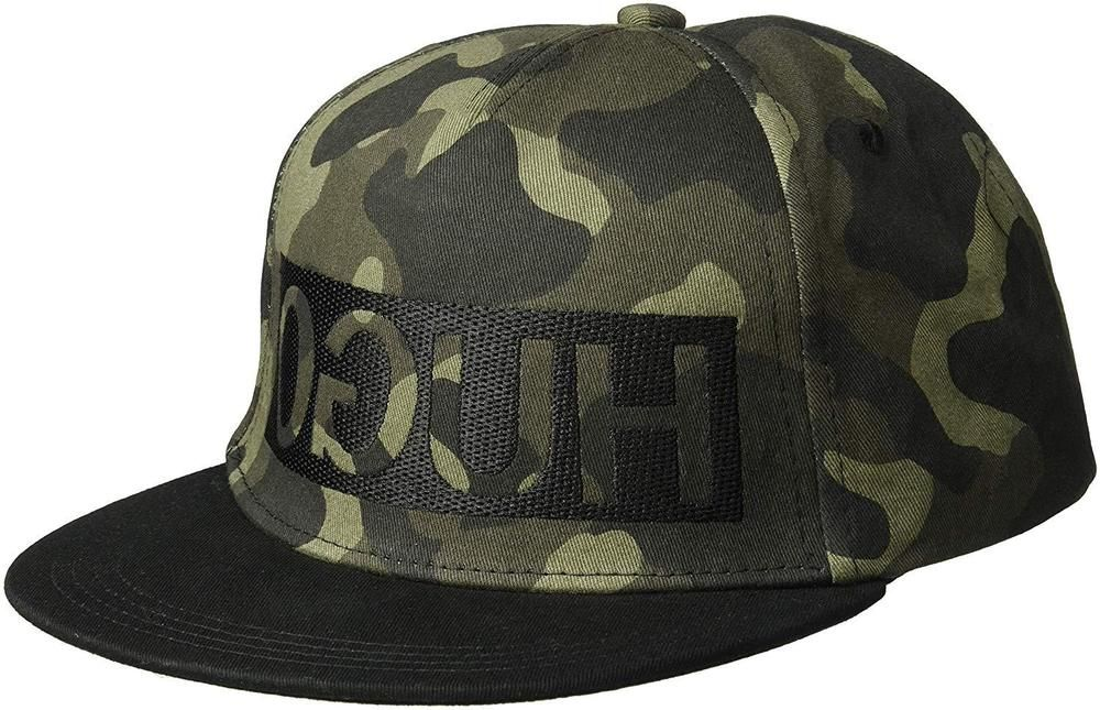 aa74eb19582 Hugo Boss mens cap men-X 536 4 Baseball cap Camouflage Green  HUGOBOSS   BaseballCap