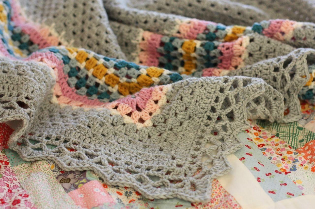 Único Mixto Puntada Patrón De Crochet Manta Adorno - Manta de Tejer ...