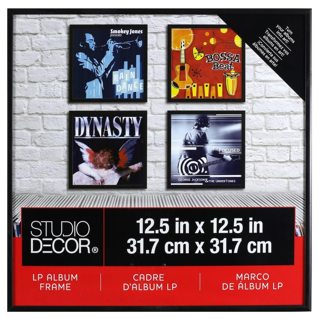 Lp Album Frame By Studio Decor Album Frames Studio Decor Button Art On Canvas